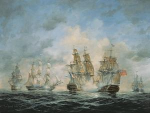 19th Century Naval Engagement in Home Waters by Richard Willis