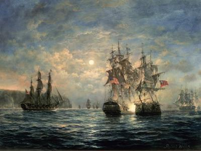 "Engagement Between the ""Bonhomme Richard"" and the ""Serapis"" Off Flamborough Head, 1779 by Richard Willis"