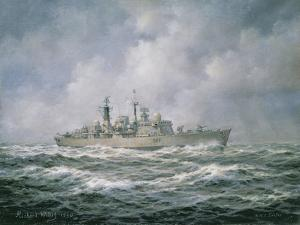 """H.M.S. """"Exeter"""" at Sea, 1990 by Richard Willis"""