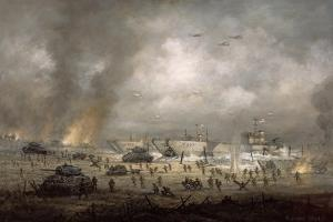 'The Tanks Go In', Sword Beach by Richard Willis