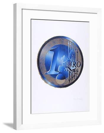 Ein Euro (Blau)