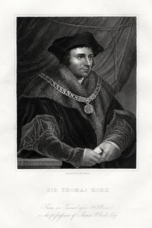 Thomas More, English Statesman, Scholar and Saint, 19th Century
