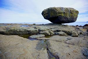 Balance Rock on the East Coast of Graham Island. it Is a Glacial Erratic from the Last Ice Age by Richard Wright