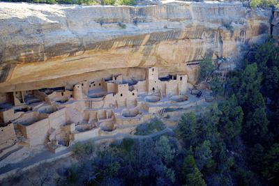 Cliff Palace Ancestral Puebloan Ruins at Mesa Verde National Park, Colorado