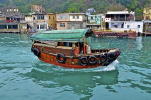 Community of Live-Aboard Boat People, Lei Yu Mai, Hong Kong by Richard Wright