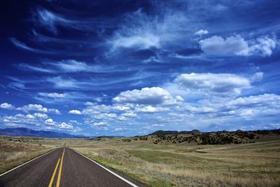 Highway 78, New Mexico, High Alpine Grasslands and Clouds