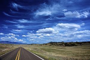 Highway 78, New Mexico, High Alpine Grasslands and Clouds by Richard Wright