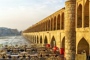 33 Pol in Isfahan, Iran at Early-Morning. it is known as Siose Bridge, 33 Bridge or the Bridge of 3 by Richard Yoshida