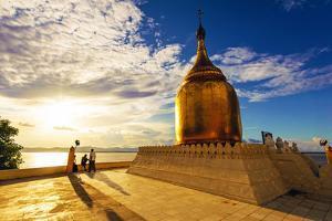 Buphaya Pagoda in Bagan, Myanmar at Sunset. by Richard Yoshida