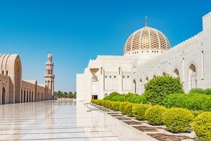 Sultan Qaboos Grand Mosque in Muscat, Oman. its Construction Finished in 2001. by Richard Yoshida