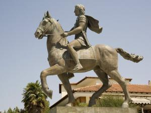Alexander the Great Statue, Pella, Macedonia, Greece, Europe by Richardson Rolf