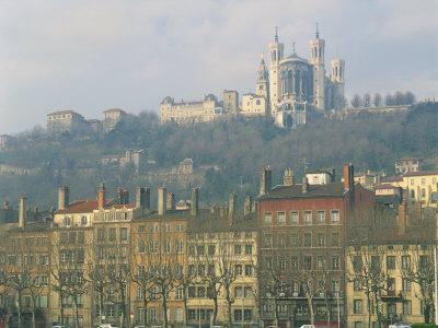 Basilica Notre Dame De Fourviere, Lyon, Rhone Alpes, France, Europe
