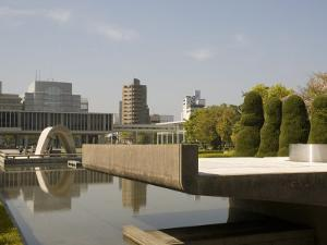 Cenotaph and Peace Museum, Hiroshima, Japan by Richardson Rolf