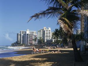 Condado Beach, San Juan, Puerto Rico, Central America by Richardson Rolf