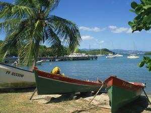 Fishing Boats Pulled Up onto the Beach at Trois Ilets Harbour, Martinique, West Indies by Richardson Rolf