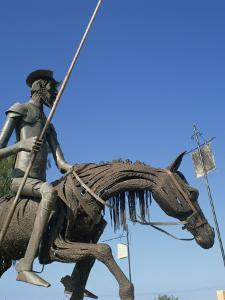 Metal Statue of Don Quixote on His Horse in Caradero, Cuba, West Indies, Caribbean, Central America by Richardson Rolf