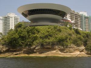 Museum of Contemporary Art, Designed by Oscar Niemeyer, Niteroi, Rio De Janeiro, Brazil by Richardson Rolf
