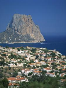 View over the Town of Calpe to the Rocky Headland of Penon De Ifach in Valencia, Spain by Richardson Rolf