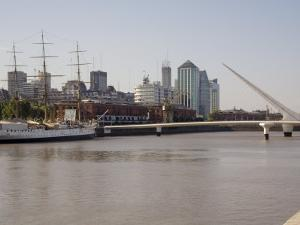 View Towards City Centre from Puerto Madero, Buenos Aires, Argentina, South America by Richardson Rolf