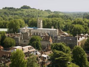 Winchester College from Cathedral Tower, Hampshire, England, United Kingdom, Europe by Richardson Rolf