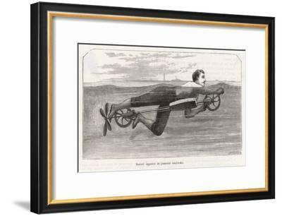 Richardson's Swimming Device Allows One to Sally Forth by Pedalling a Propellor Underwater- Meerahy-Framed Giclee Print