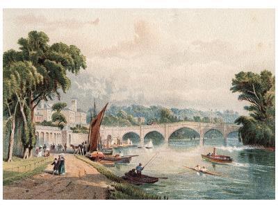 Richmond Bridge, 1880-F Jones-Giclee Print