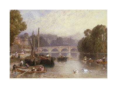 Richmond Bridge, 19th Century-Myles Birket Foster-Giclee Print