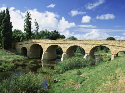 Richmond Bridge, Built in 1823, and the Oldest Road Bridge in Australia, Tasmania, Australia-G Richardson-Photographic Print