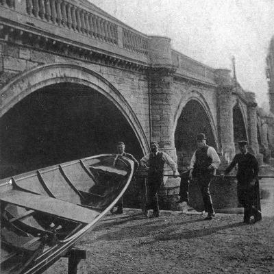 Richmond Bridge, London, Early 20th Century--Photographic Print
