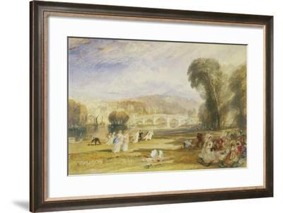 Richmond Hill and Bridge, Surrey, C.1831-J^ M^ W^ Turner-Framed Giclee Print
