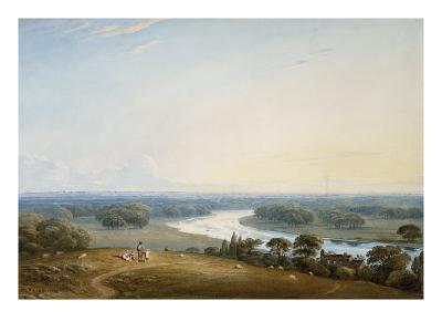 Richmond Hill, Surrey, 1834-John Varley-Giclee Print