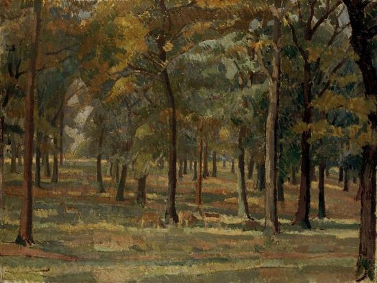 Richmond Park, 1914-Spencer Frederick Gore-Giclee Print