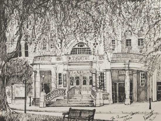 Richmond Theatre London, UK-Vincent Booth-Giclee Print