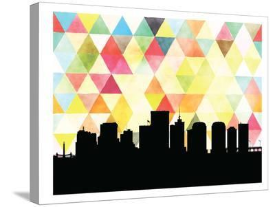 Richmond Triangle-Paperfinch 0-Stretched Canvas Print