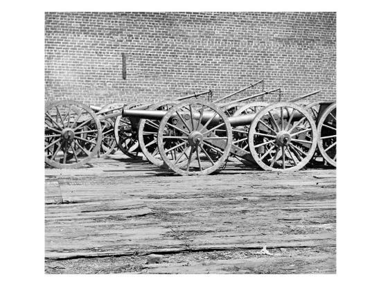 Richmond, VA, Captured Guns, Civil War-Lantern Press-Art Print
