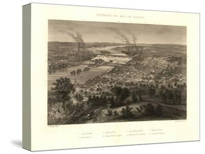 Richmond, Virginia - Panoramic Map-Lantern Press-Stretched Canvas Print