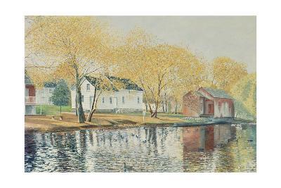 Richmondtown Pond, Richmondtown, Staten Island, 1995-Anthony Butera-Giclee Print