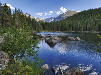 Hdr, Digital Composite, Bear Lake, Rocky Mountain National Park, Colorado, Usa