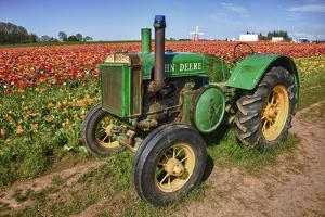 Old John Deere, Wooden Shoe Tulip Farm, Woodburn, Oregon, USA by Rick A^ Brown