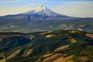Oregon, Hood River, Aerial Landscape of Mt. Hood by Rick A. Brown