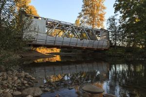 Oregon, Larwood Wayside, Larwood Bridge During Restoration Work by Rick A. Brown