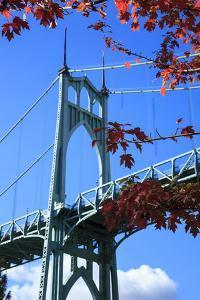 Oregon, Portland, Cathedral Park, St. John's Bridge by Rick A. Brown