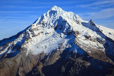 USA, Oregon, Aerial Landscape of Mt. Hood