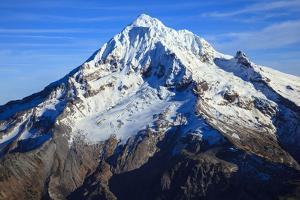 USA, Oregon, Aerial Landscape of Mt. Hood by Rick A Brown