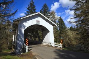 USA, Oregon, Hannah Bridge by Rick A Brown