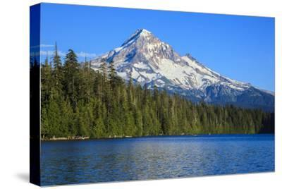 USA, Oregon, Mt. Hood National Forest, boaters enjoying Lost lake.