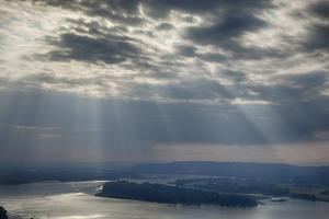 View from Crown Point, Columbia Gorge National Scenic Area, Oregon, USA by Rick A. Brown