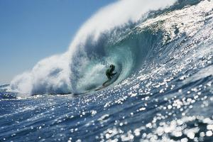 Surfer Riding a Wave by Rick Doyle