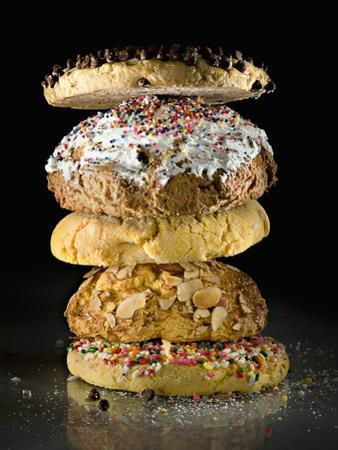 Cookies in a stack by Rick Gayle