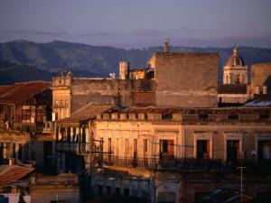 Buildings in City, Santiago De Cuba, Cuba by Rick Gerharter